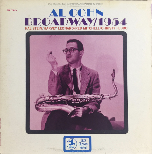AL COHN - Broadway/1954 cover