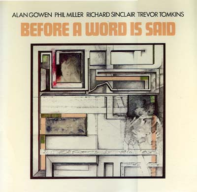 ALAN GOWEN - Before a Word Is Said cover
