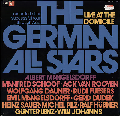 ALBERT MANGELSDORFF - The German Allstars - Live At The Domicile cover