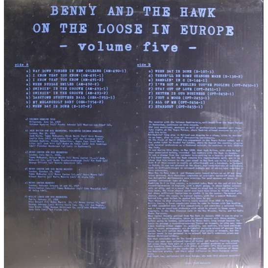 BENNY CARTER - Benny Carter And Coleman Hawkins : Benny And The Hawk On The Loose In Europe Vol. 5 cover