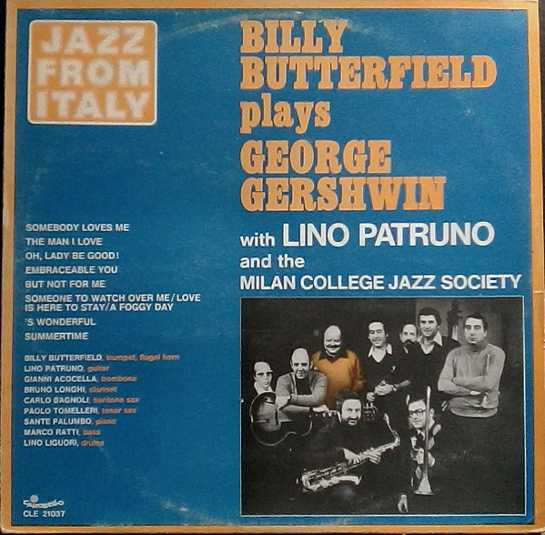 BILLY BUTTERFIELD - Plays George Gershwin (with Lino Patruno and the Milan College Jazz Society) cover