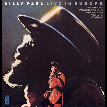 BILLY PAUL - Live In Europe cover