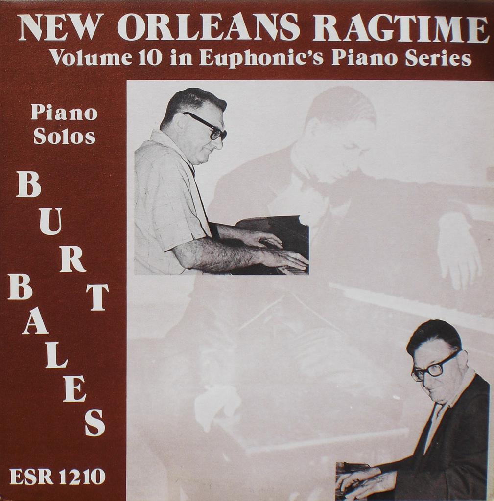 BURT BALES - New Orleans Ragtime cover