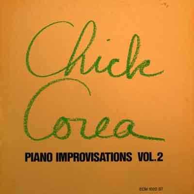 CHICK COREA - Piano Improvisations, Volume 2 cover