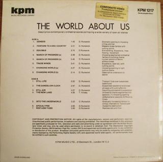DARYL RUNSWICK - Daryl Runswick / Tony Kinsey : The World About Us cover