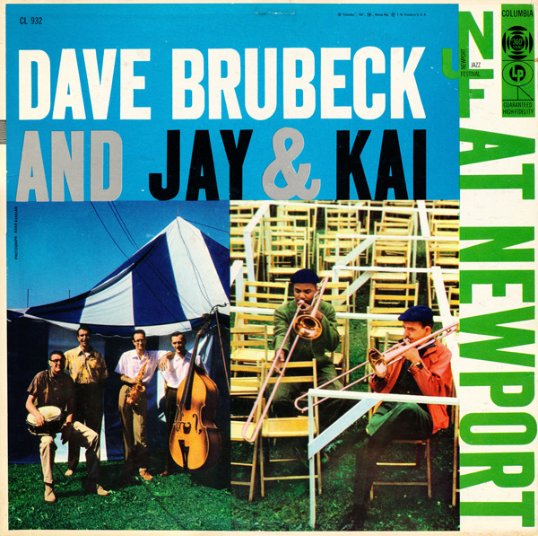DAVE BRUBECK - At Newport (with Jay & Kai) cover