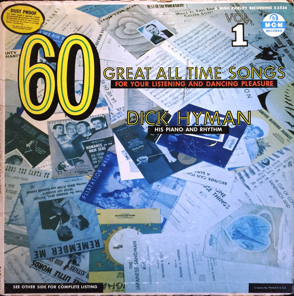 DICK HYMAN - 60 Great All Time Songs For Your Listening And Dancing Pleasure cover