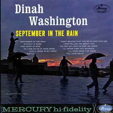 DINAH WASHINGTON - September In The Rain cover