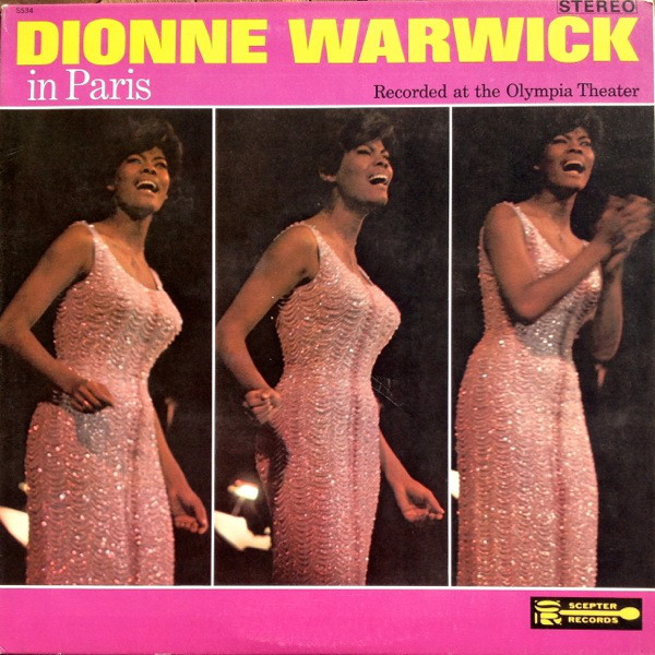 DIONNE WARWICK - In Paris  (aka All' Olympia) cover