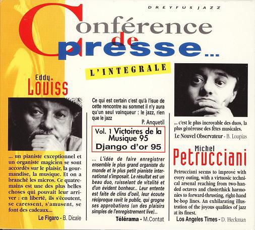 EDDY LOUISS - Eddy Louiss & Michel Petrucciani : Conférence De Presse... L'Intégrale cover