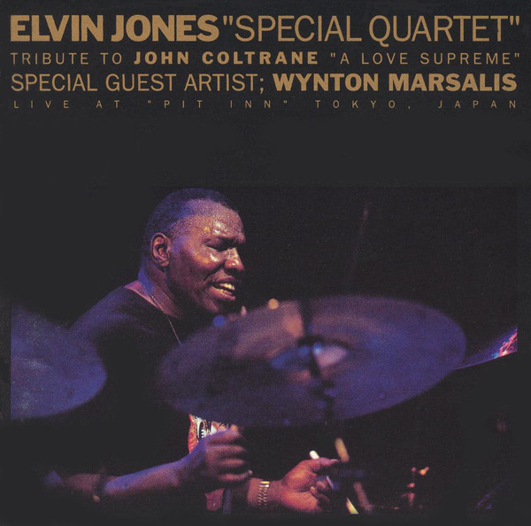 ELVIN JONES - Tribute To John Coltrane A Love Supreme – Live At Pit Inn Tokyo Japan 1992 cover