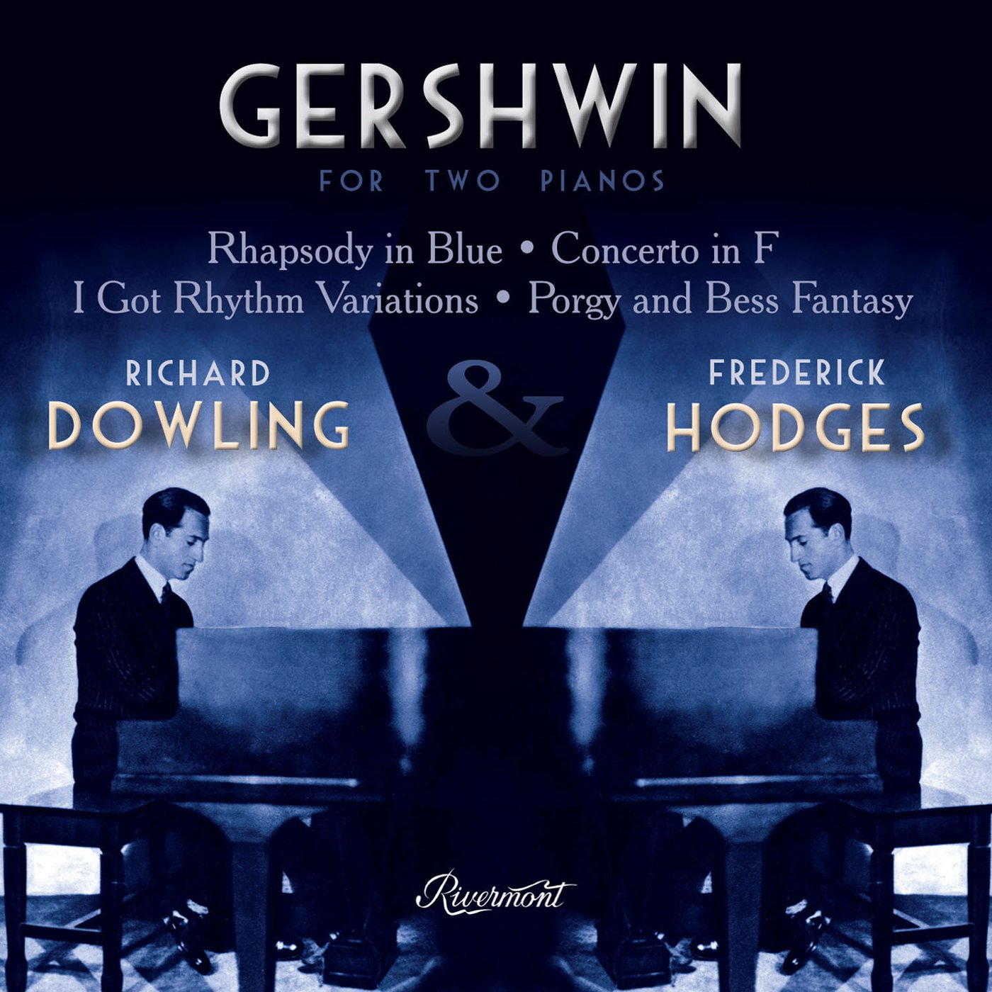 FREDERICK HODGES - Frederick Hodges and Richard Dowling : Gershwin For Two Pianos cover