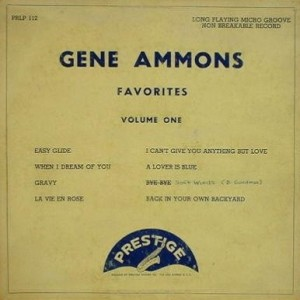 GENE AMMONS - Favorites, Volume One (aka Tenor Sax Favorites, Volume One) cover