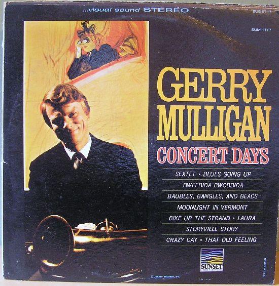 GERRY MULLIGAN - Concert Days cover