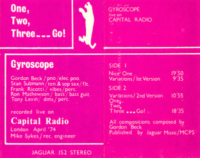 GORDON BECK - One, Two, Three....Go cover