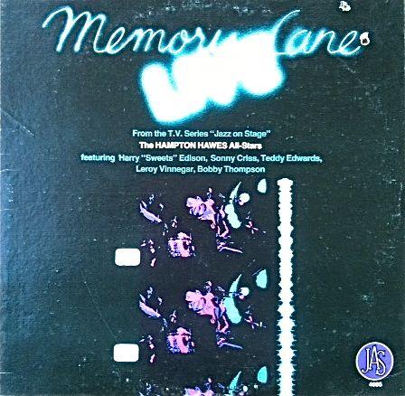 HAMPTON HAWES - Memory Lane Live cover