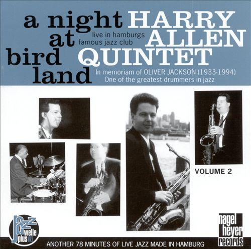 HARRY ALLEN - A Night at Birdland, Vol. 2 cover