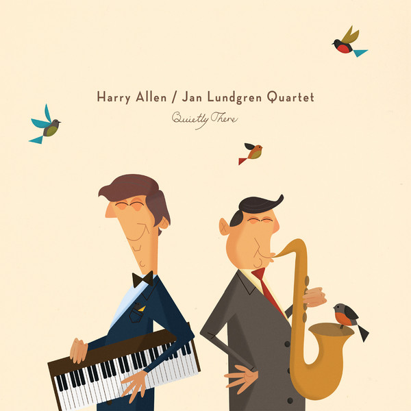HARRY ALLEN - Harry Allen & The Jan Lundgren Quartet : Quietly There cover