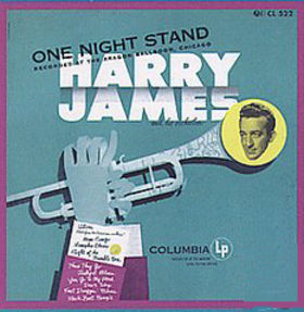 HARRY JAMES - One Night Stand cover