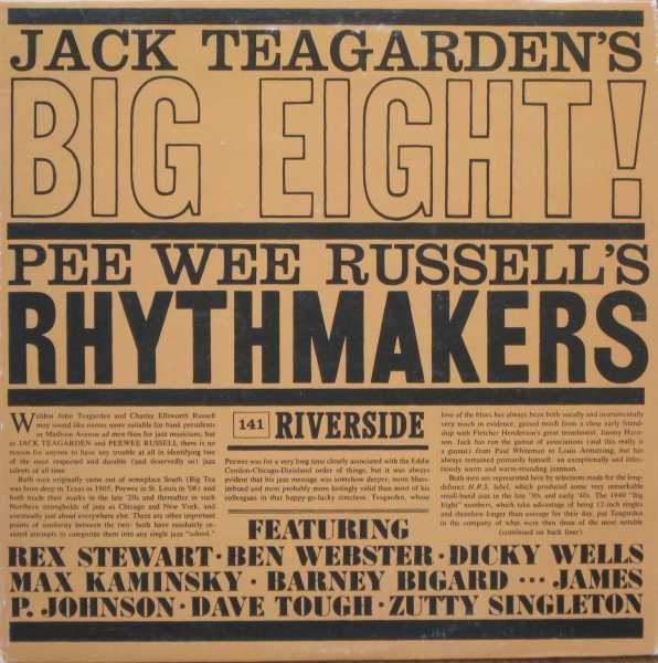 JACK TEAGARDEN - Jack Teagarden's Big Eight / Pee Wee Russell's Rhythmakers (aka La Storia Del Jazz) cover
