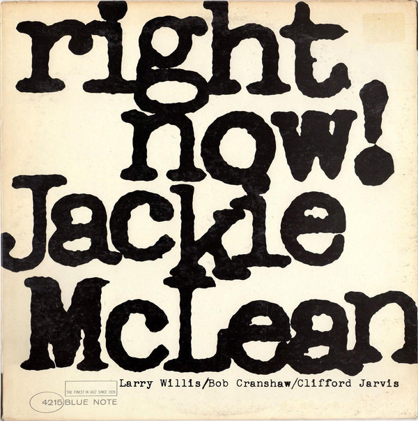 JACKIE MCLEAN - Right Now! cover