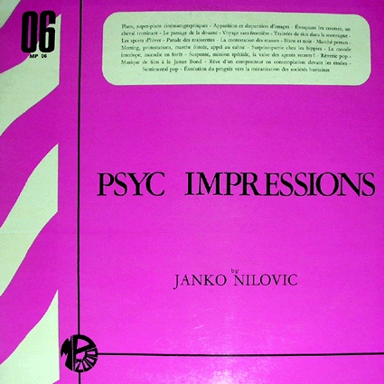 JANKO NILOVIĆ - Psyc Impressions cover