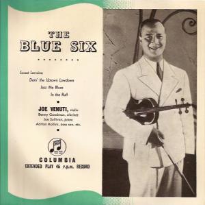 JOE VENUTI - The Blue Six cover