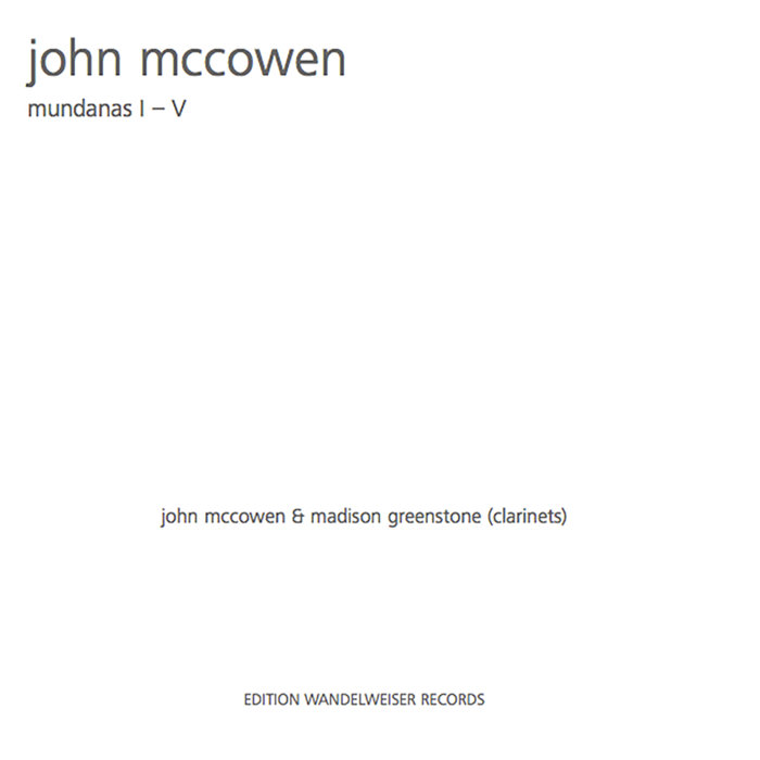 JOHN MCCOWEN - Mundanas I-V cover