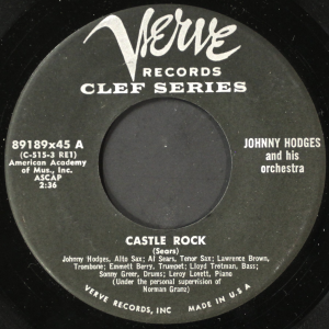 JOHNNY HODGES - Castle Rock / Don't Call Me, I'll Call You cover