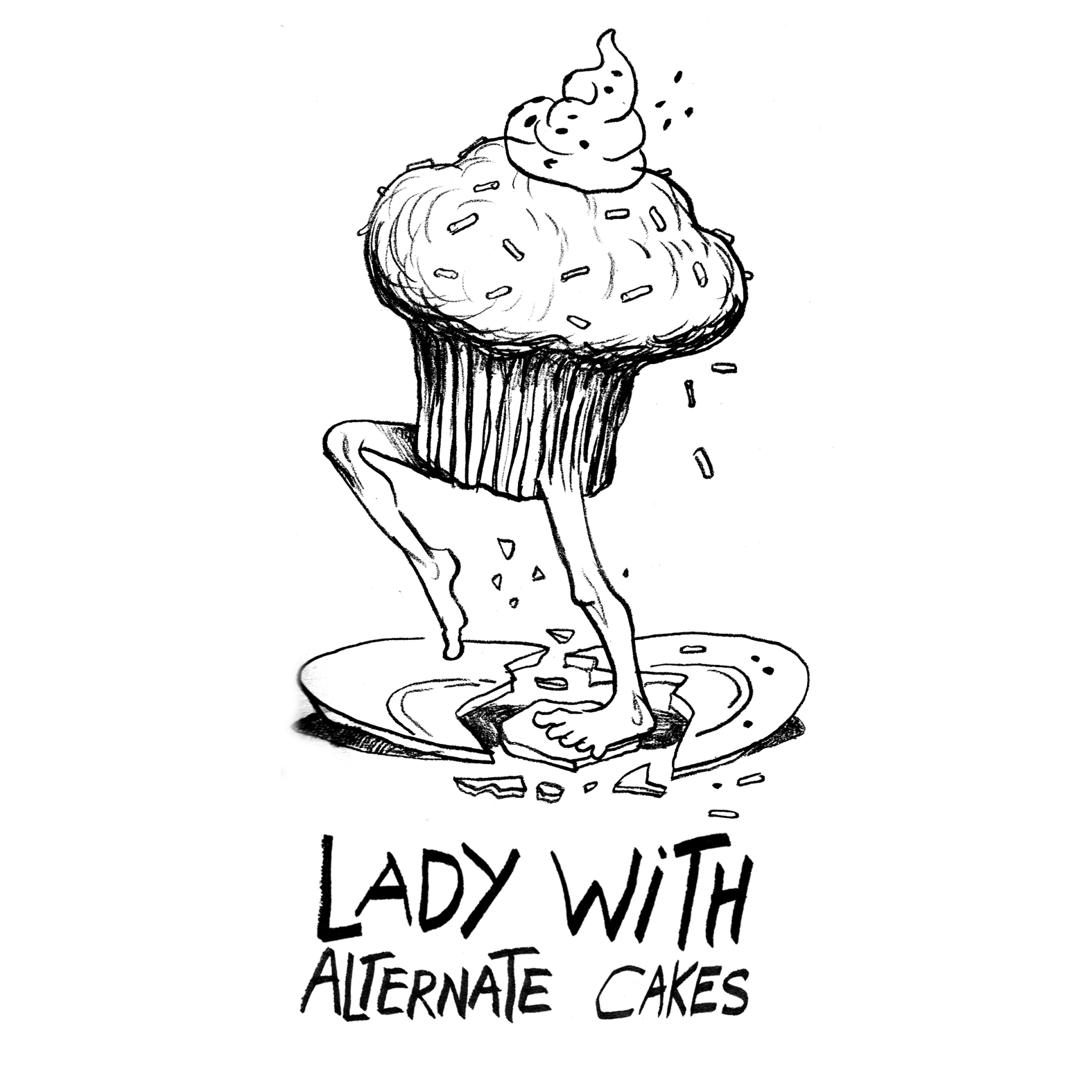 LADY WITH - Alternate Cakes cover