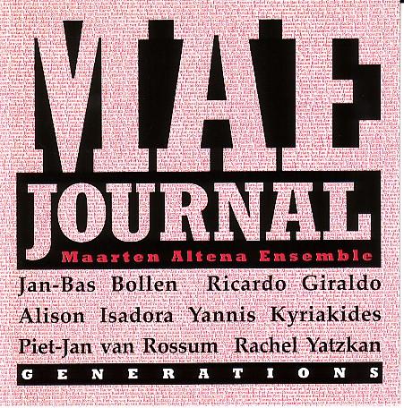 MAARTEN ALTENA - Generations cover