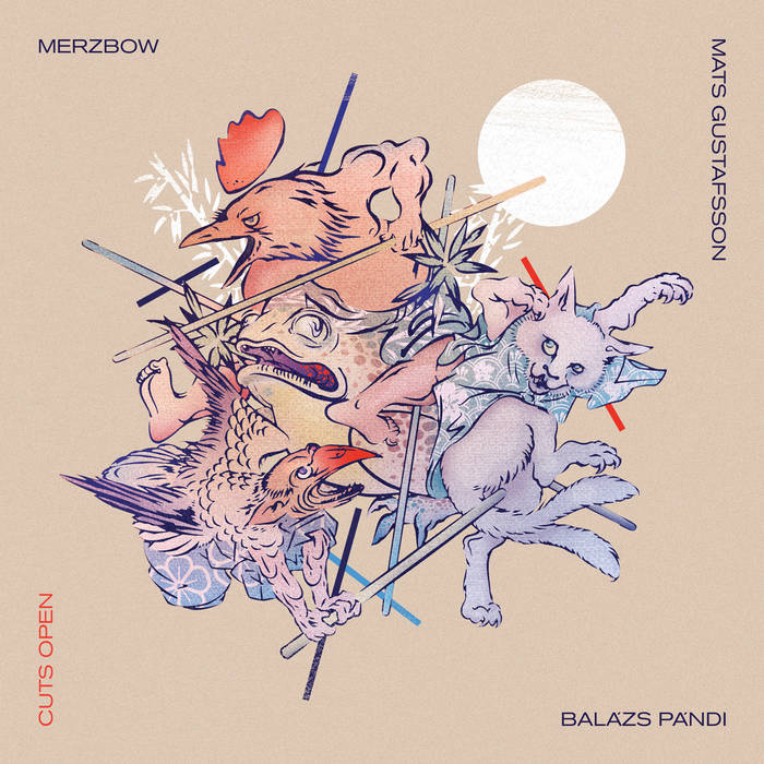MERZBOW - Merzbow, Mats Gustafsson, Balasz Pandi – Cuts Open cover