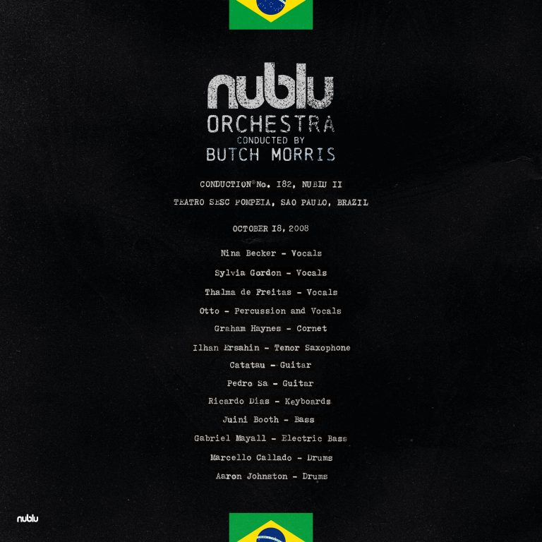 NUBLU ORCHESTRA CONDUCTED BY BUTCH MORRIS - Live in Sao Paolo cover