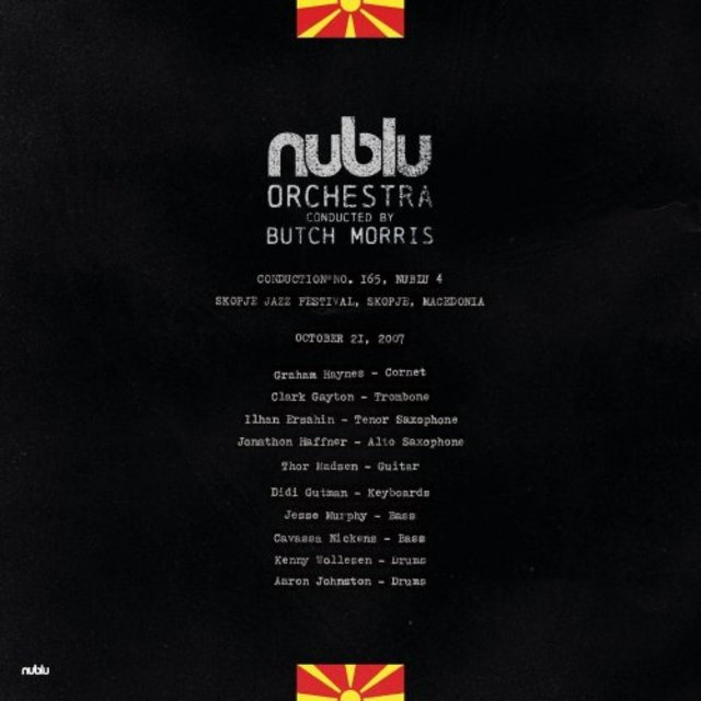 NUBLU ORCHESTRA CONDUCTED BY BUTCH MORRIS - Live in Skopje cover