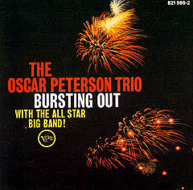 OSCAR PETERSON - Bursting Out With the All Star Big Band! cover