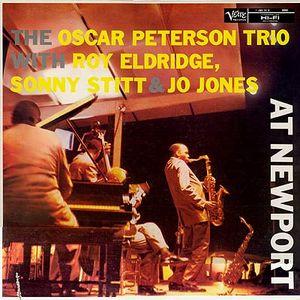 OSCAR PETERSON - The Oscar Peterson Trio With Roy Eldridge / Sonny Stitt & Jo Jones : At Newport cover