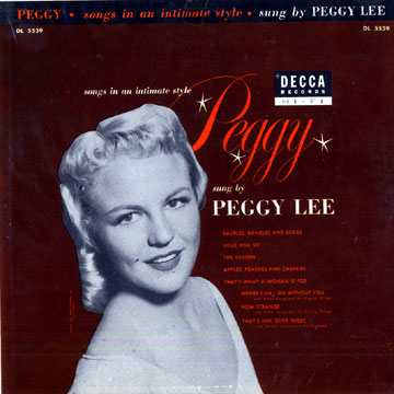 PEGGY LEE (VOCALS) - Songs in an Intimate Style cover