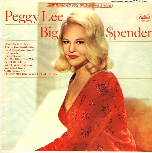 PEGGY LEE (VOCALS) - Big Spender cover