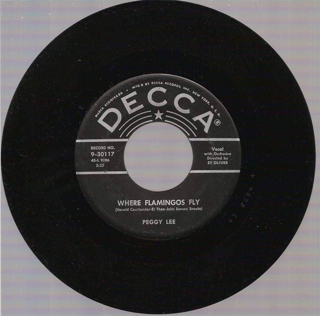 PEGGY LEE (VOCALS) - Where Flamingos Fly / The Gypsy with Fire in His Shoes cover