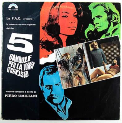 PIERO UMILIANI - 5 Bambole Per La Luna D'Agosto Original Motion Picture Soundtrack cover