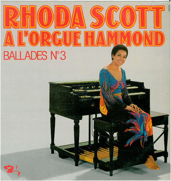 RHODA SCOTT - Rhoda Scott A L'Orgue Hammond - Ballades № 3 cover