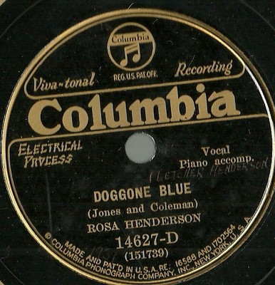 ROSA HENDERSON - Doggone Blue / Can't Be Bothered With No Sheik cover
