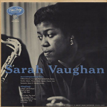 SARAH VAUGHAN - Sarah Vaughan (aka Sarah Vaughan With Clifford Brown) cover