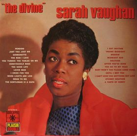 SARAH VAUGHAN - The Divine cover