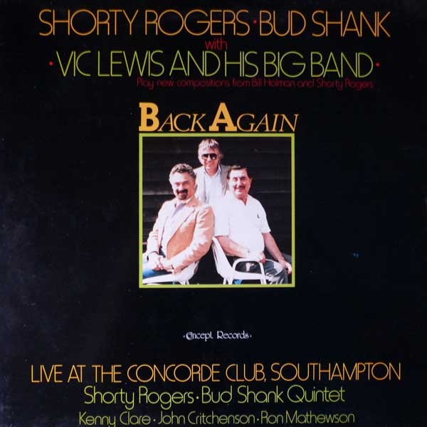 SHORTY ROGERS - Back Again cover