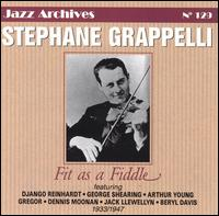 STÉPHANE GRAPPELLI - Fit as a Fiddle 1933-1947 cover