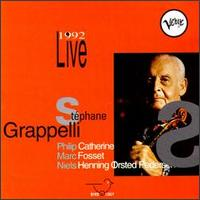 STÉPHANE GRAPPELLI - Live 1992 cover