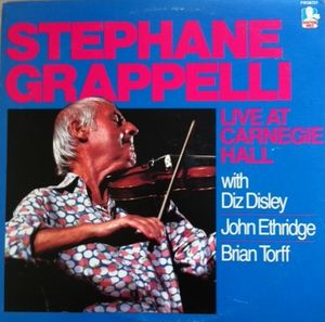 STÉPHANE GRAPPELLI - Live at Carnegie Hall cover