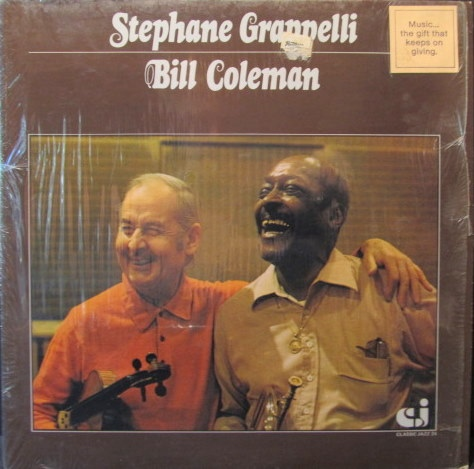 STÉPHANE GRAPPELLI - Stephane Grappelli With Bill Coleman cover