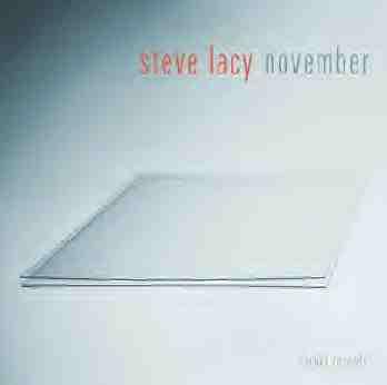 STEVE LACY - November cover